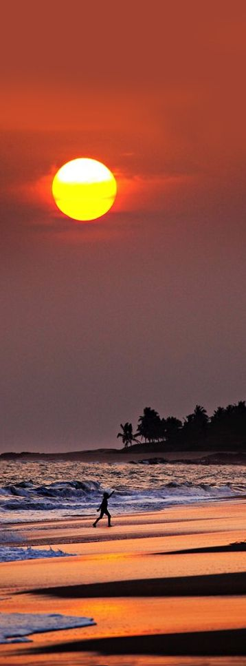 Sunset, Brenu Beach, Cape Coast, Ghana