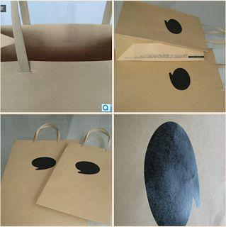 BRAND PAPER BAG: Simple but profound silk printing_Brand retail bag...