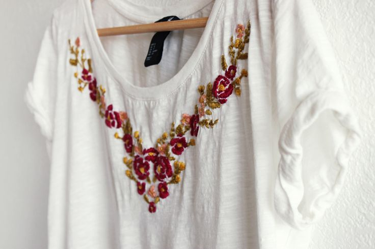 Images about diy hand embroidered t shirt on pinterest