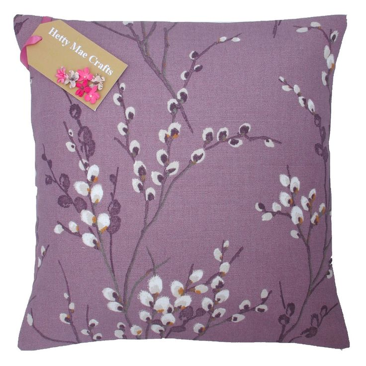 Hand Made Laura Ashley Pussy Willow Grape Purple Cushion Cover In Various Sizes in Home, Furniture & DIY, Home Decor, Cushions | eBay
