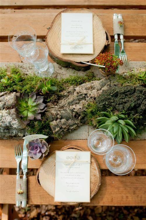 Rustic Table Setting Wedding Ideas
