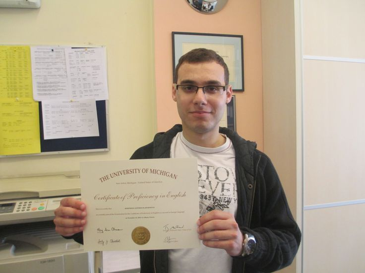 Our IELTS student Jim Karakostas also received his Proficiency in English from Michigan University! Congrats!