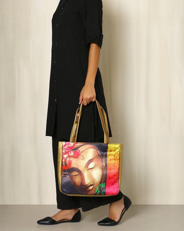 All Things Sundar Multi Color Digital Print Tote Bag