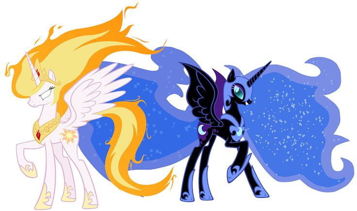 My Little Pony Princess Celestia Princess Luna Nightmare Sun Nightmare Moon