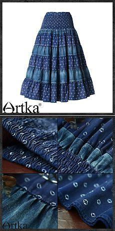 Длинная юбка-солнце с джинсовыми вставками на резинке, 40207559672 купить за…
