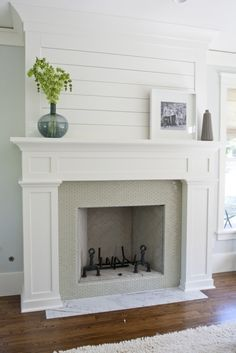 Gorgeous Fireplace Makeover I Want To Put Molding Around My Ugly