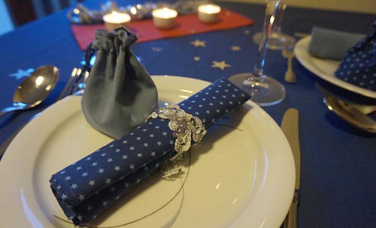 Décoration table de fête DIY avec les tissus étoilés Frou-Frou par Le Dé Cousu
