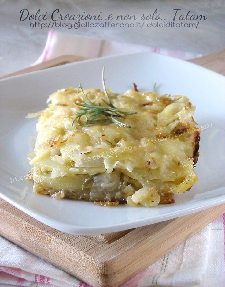Pasticcio di patate e cipolle al groviera | ricetta gustosa