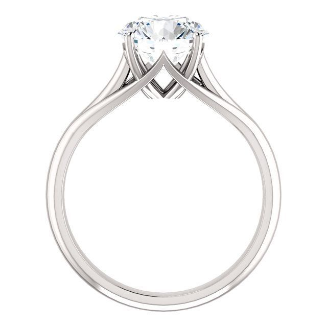 Feabhraíd Trellis Cathedral Solitaire Ring with an 8mm round center.