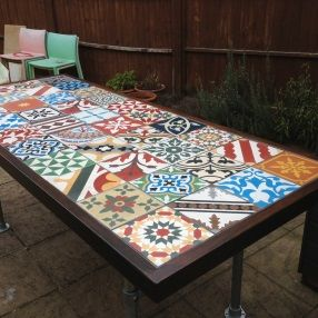 Patchwork Encaustic Tiles Table