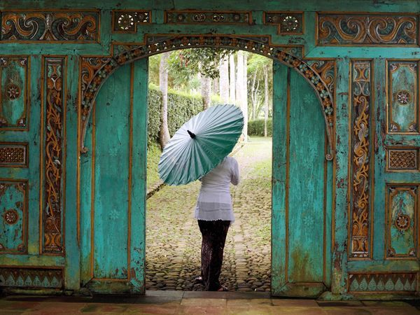 Always inspired by ethnic design ! Antique  Indonesian Carved Doors - West Java