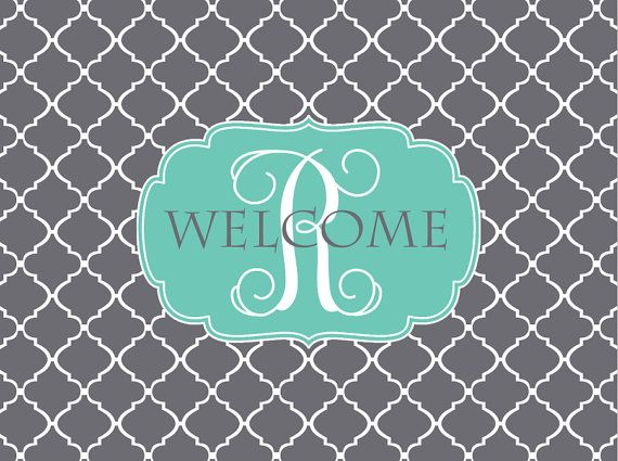 Custom Door Mat, Monogrammed Doormat, Door Mat, Personalized Welcome Mat, Monogrammed Door Mat, Custom Doormat, Clover Door Mat