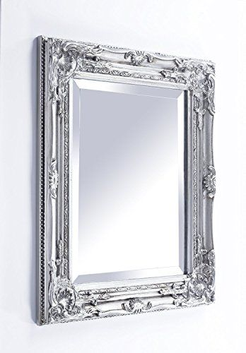 FRENCH SILVER Shabby Chic Antique Style MIRROR -Mirror Size: 16 inches x 20 inches (40cm x 50cm)