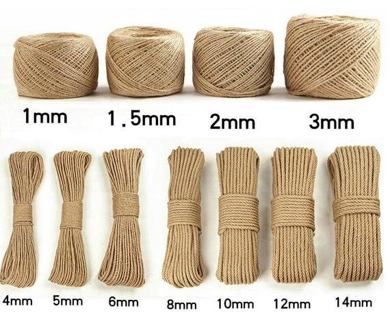Jute Rope 3mm Hemp Yarn Jute Yarn Jute String Natural Twine Organic Yarn Jute Twine Naturel Yarn Bag Yarn Linen cord Macrame Yarn