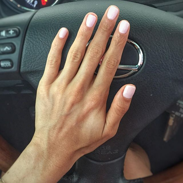 """Neutral pink nails color is ""rose-colored glasses"" by Orly gel FX"