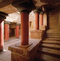 Absolutely stunning. The palace of Knossos is considered to have been vastly ahead of other civilizations in terms of architecture. The construction and incorporation of pillars in the support system, at this point in history, is simply fascinating.