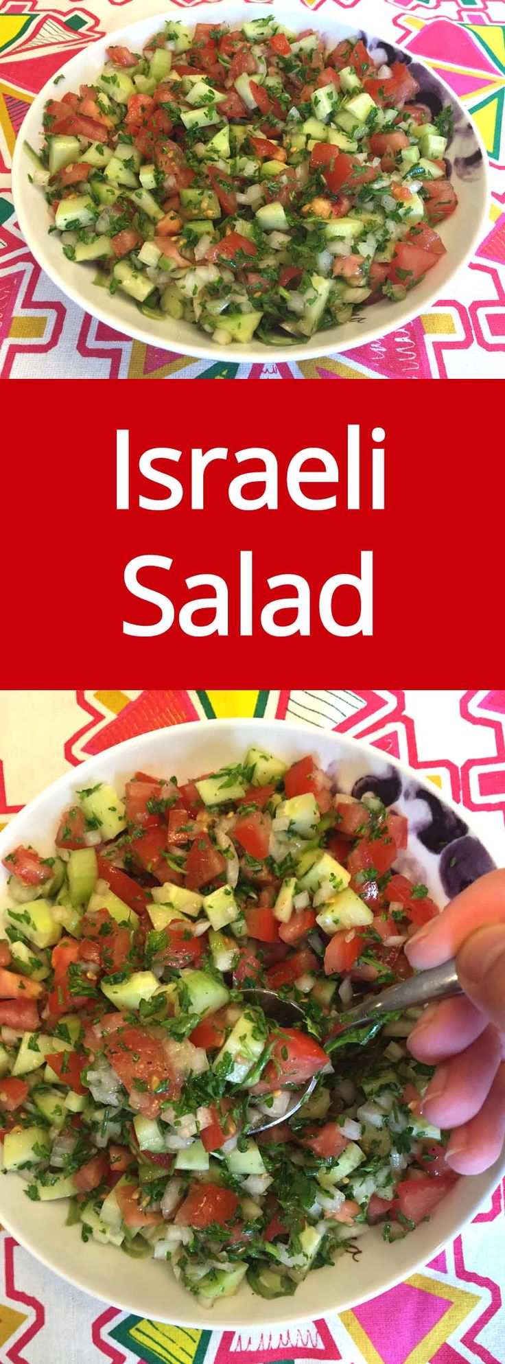 Mejores 141 imgenes de salads en pinterest aderezos para israeli salad recipe with tomatoes cucumber onions and parsley crunchy healthy and forumfinder