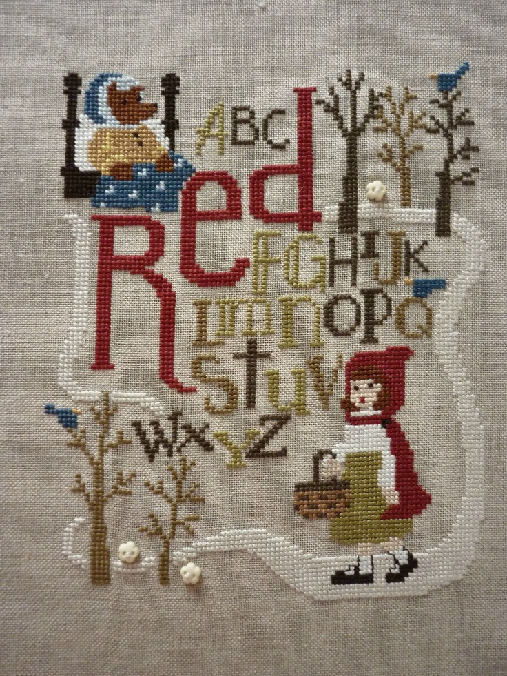 Embroidery bent creek little red ridding hood