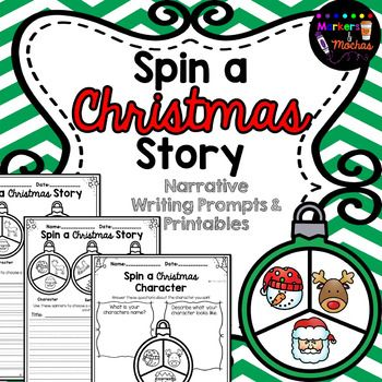 ~SPIN A STORY WRITING PROMPTS~ ******Christmas**********These Christmas writing prompts are a great way for your students to practice their narrative writing during the holiday season. Included in this file are:3 x Spin a story planning printables (Character & setting only)3 x spin a story prompts using character & setting prompts(2 formats for your students needs) 3 x spin a story prompts using Character, Setting & Problem(2 formats for your students needs)4 x BLANK sets for your...