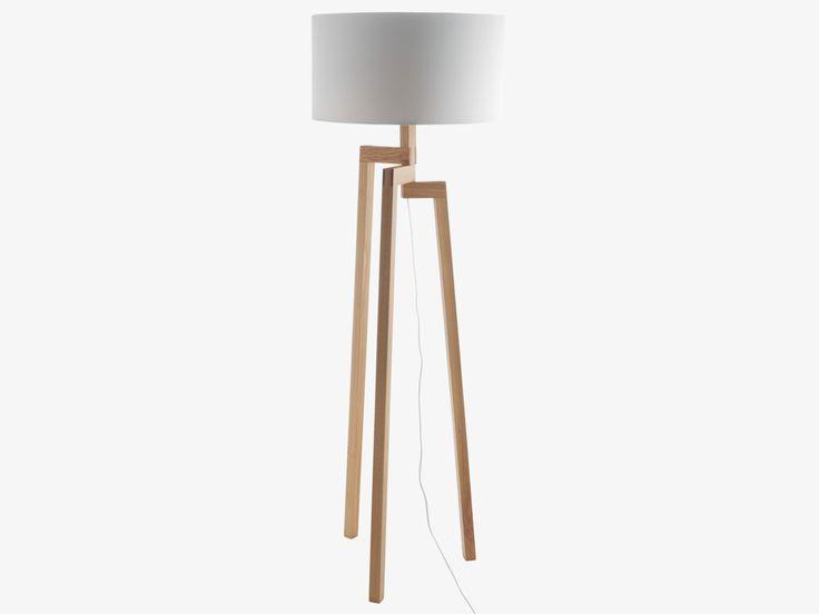 DYLAN NATURAL Wood Ash wooden floor lamp base - HabitatUK