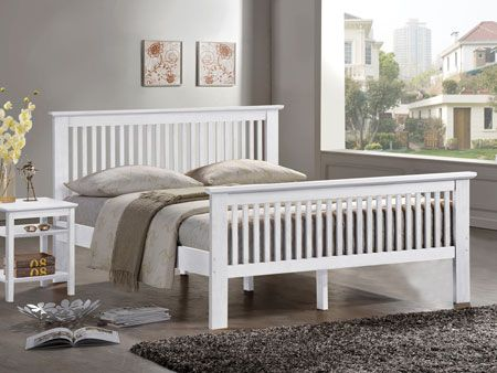 Harmony Buckingham White Double Bed