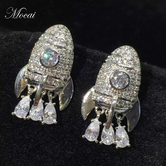 Latest Plane Tassel Earrings For Women Special Design Full Cubic Zirconia Luxury Shiny Earring Jewelry Accessories 2017 ZK20