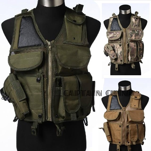 37.31$  Know more - http://aiz8y.worlditems.win/all/product.php?id=32695411294 - Military Tactical Vest w/ Holster Heavy Duty Regular Quick release buckle tactical vest