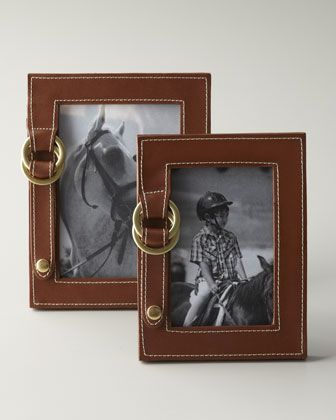 """Fairwood"" Picture Frames by Lauren Ralph Lauren at Horchow."