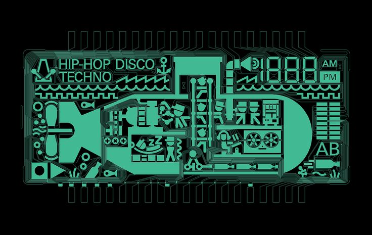 The final PO-14 'Sub' LCD design, in all its glory