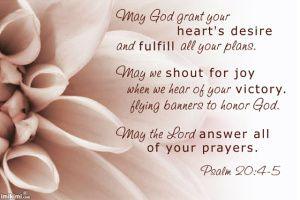 Psalm 20:4-5