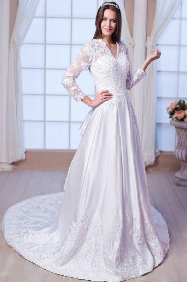 long sleeve vintage wedding dresses