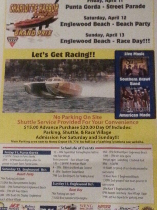 Charlotte Harbor... Super Boat .... Grand Prix! Englewood Beach Fl... This Weekend .April 11 - 13th.