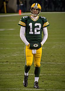 Rodgers in 2011 during a Monday Night Football game