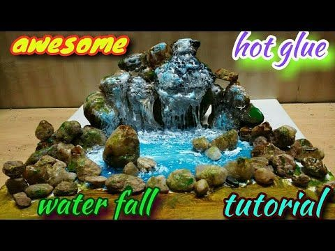 how to make a simple waterfall diorama