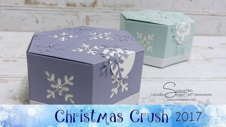 Snowflake Hexagon Box featuring Stampin' Up!® Products