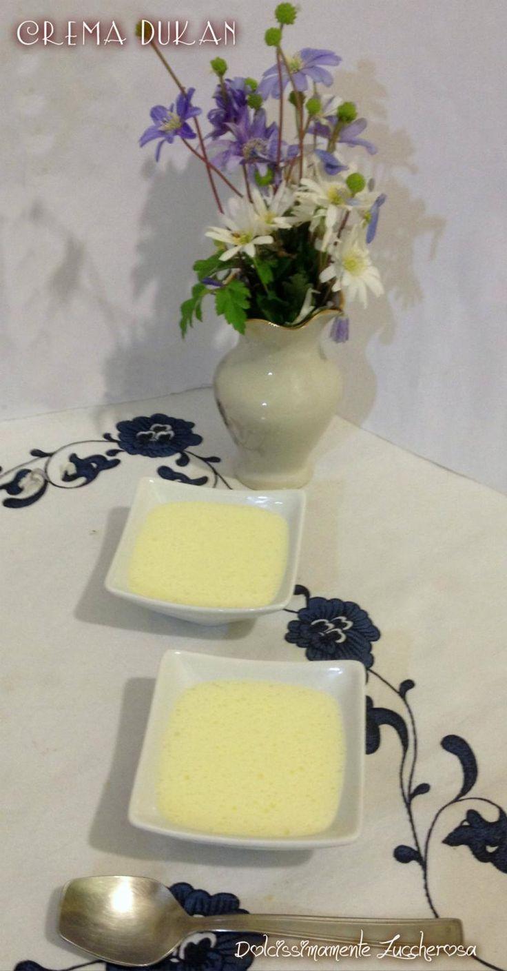 Crema pasticcera Dukan ricetta light dieta | Dolcissimamente Zuccherosa