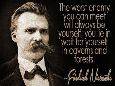 Friedrich Nietzsche (1844–1900), German philosopher, often misinterpreted and referred to as one of the first existentialist philosophers along with Søren Kierkegaard