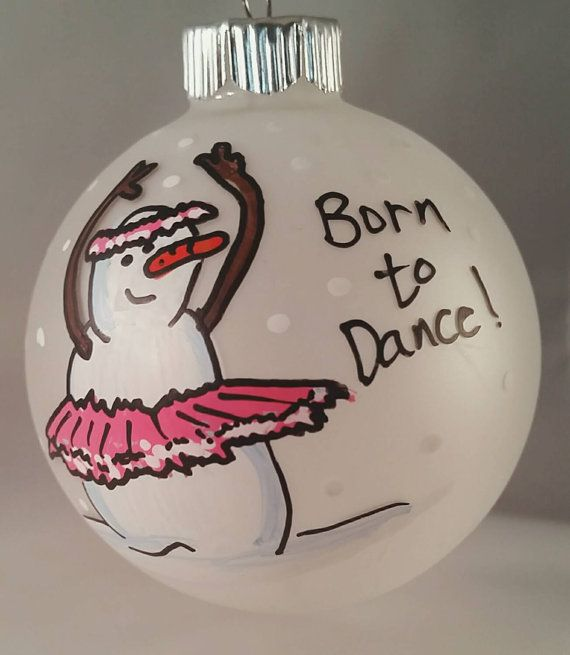 Ballerina Ornament - Dancer Ornament - Personalized Ornament - Custom Ornament - Snowman Ornament - Tap Dancing Ornament - Born To Dance