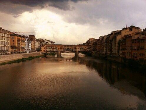#Florence has always a romantic aura, hasn't it? Ponte Vecchio view after a summer rain