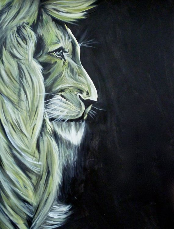 Elder Lion King ART PRINT Limited Edition 8x10 by AFMarlow on Etsy