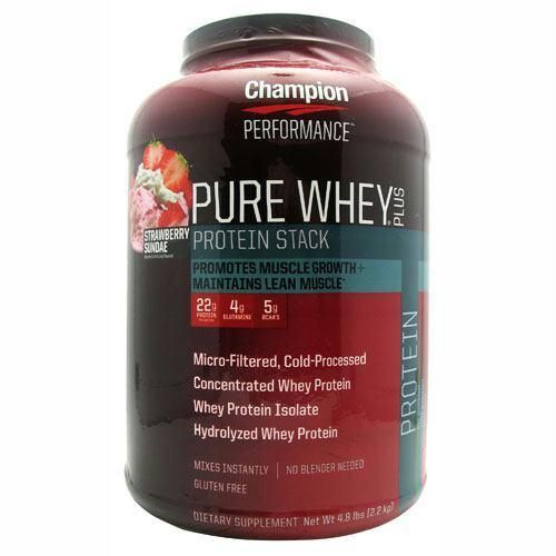 Champion Nutrition Pure Whey Plus Strawberry Sundae - Gluten Free