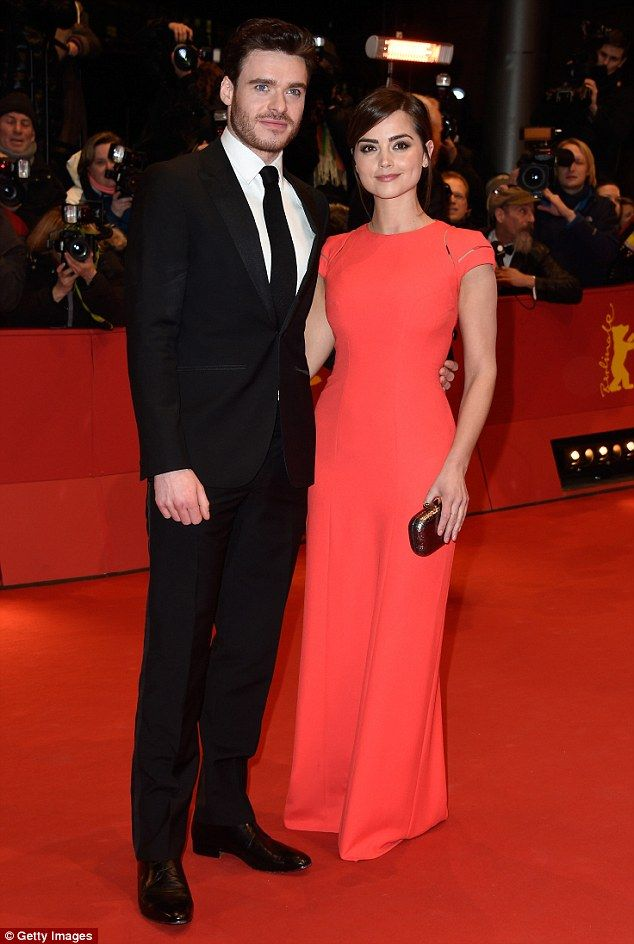 Prince Charming! Jenna Coleman appeared on the red carpet with her boyfriend Richard Madde...
