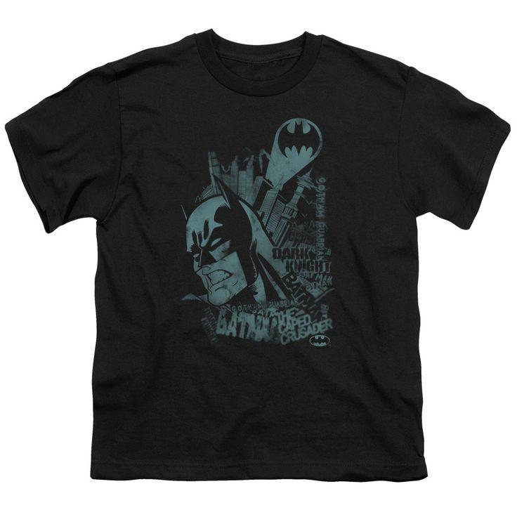 BATMAN/GRITTED TEETH - S/S YOUTH 18/1 - BLACK -