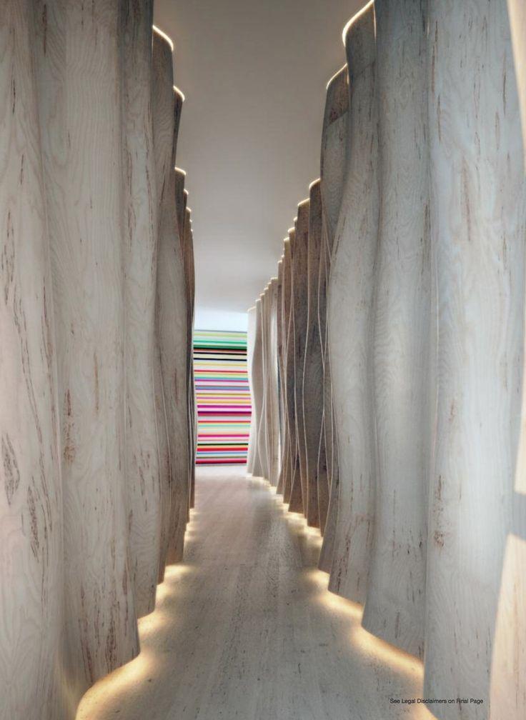 Marea Miami Beach.  Cool idea for lighting a long hallway
