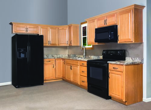 Best Value Choice 19 L Huron Oak Kitchen Cabinets Only At 640 x 480