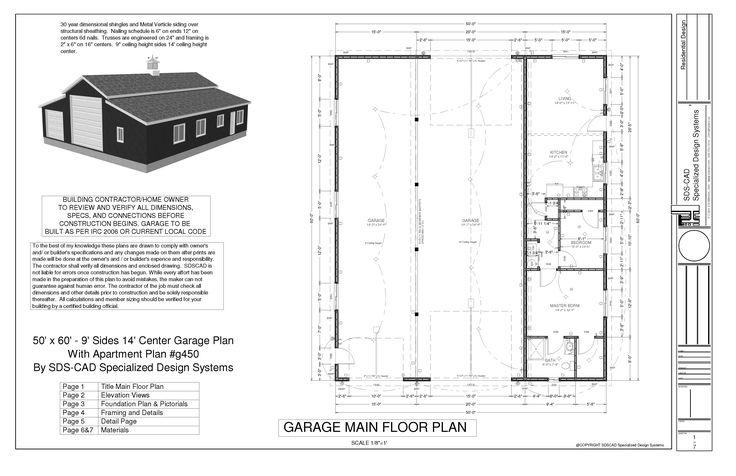 40 X 60 Pole Barn Home Designs   pole barn apartment floor plans ...