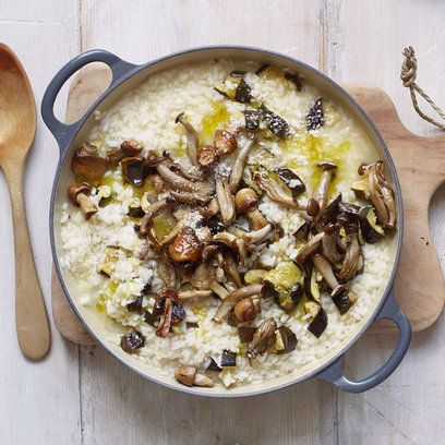 zucchini and mushroom risotto.: I Ll Prob, Courgette I Ll, Gordon Ramsay, Wild Mushrooms, Mushroom Risotto, Vegetarian Dinner Parties, Risotto Recipe, Vegetarian Dinners