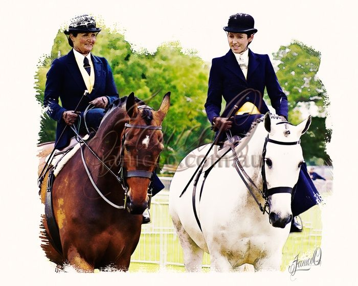 Elegance - Riding sidesaddle presents the very picture of elegance.