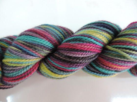 "http://www.yarngloriousyarn.com.au/koigu/koigu-kpppm/koigu-kpppm-p139  ""Koigu Painters Pallette Premium Yarn (KPPPM)       100% merino wool     170yds/50gm     3mm needles     28 stitches by 36 stitches over 10cm x 10cm"""