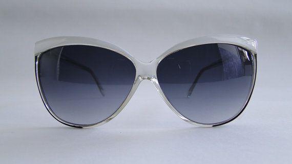 Occhiale Vintage donna anni '80 di Puntidivi su Etsy #vintage #piave #sunglasses #white